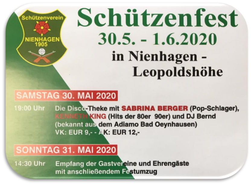SAVE THE DATE – Schützenfest Nienhagen